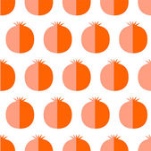 Flat cute pamegranate — Stock Vector