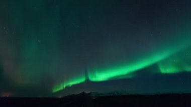 Aurora Boreal na Islândia — Vídeo stock