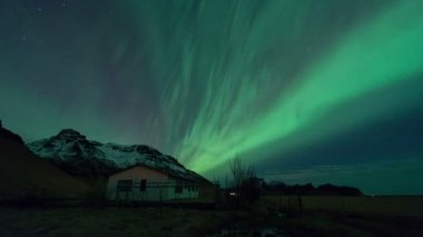 Aurora Northern Lights in Iceland — Stockvideo