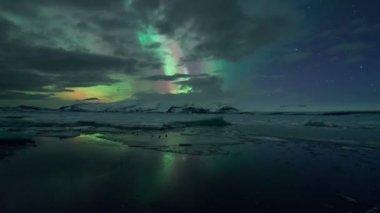 Aurora Northern Lights in Iceland — Stock Video