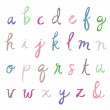 ������, ������: Cursive Alphabet Letters With Polka Dots
