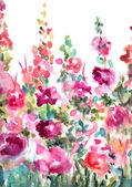 Abstract Watercolor Floral Background Landscape — Stock Photo