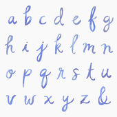 Cursive Watercolor Alphabet - Lowercase — Stock Photo