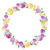 Watercolor Floral Wreath — Stock Photo