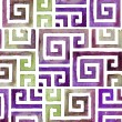 Indian Tribal Background Pattern. Watercolor Tribal Background — Stock Photo