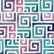 Indian Tribal Background Pattern. Watercolor Tribal Background — Stock Photo #48217025