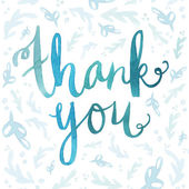 Watercolor Lettering. Thank You Lettering. Painted Thank You Tex — Stock Photo