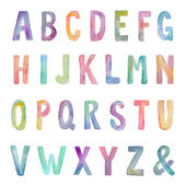 Colorful Watercolor Alphabet Letters — Stock Photo