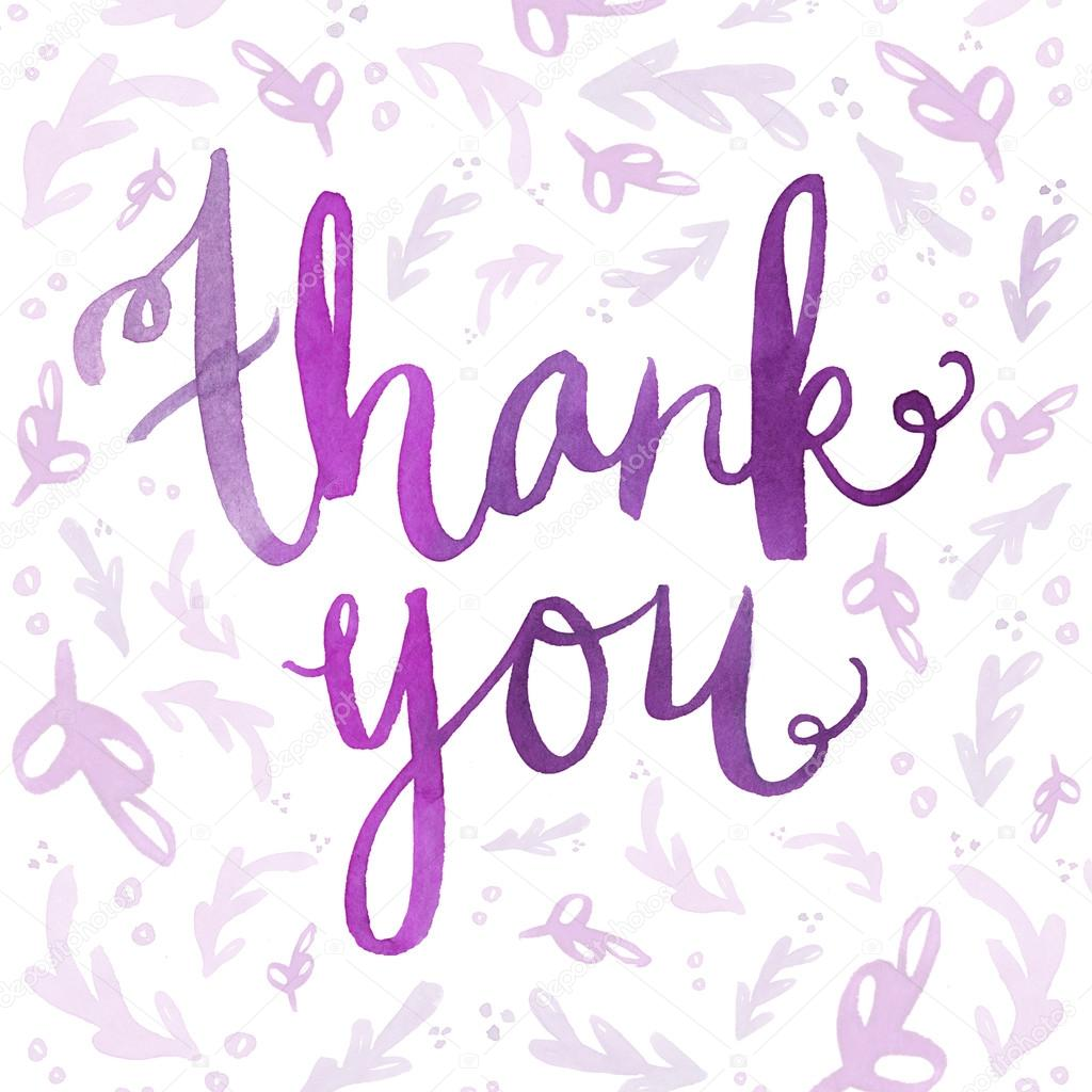Watercolor Thank You Lettering Stock Photo Angiemakes
