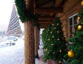 Lido Restaurant yılbaşı ağacı — Stok fotoğraf