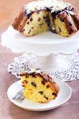日付とオレンジのケーキ — ストック写真