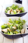 Rocket, chicken and cucumber salad — Stock Photo