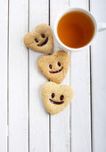Biscuits with smile  — Stock Photo
