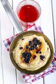 Blueberry pancakes — Stock Photo