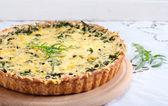 Savory green tart — Stock Photo