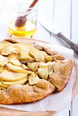 Apple whole meal galette  — Stock Photo