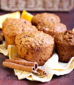 Carrot and marmalade muffins — Stock Photo
