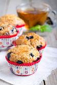 Homemade blueberry muffins — Stock Photo