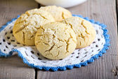 Rice flour cookies with coconut — Stock Photo