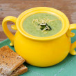 Broccoli soup with cheddar — Stock Photo #47214133