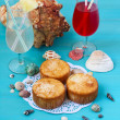 Coconut and pineapple cakes — Stock Photo