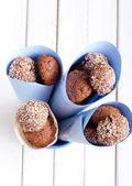 Chocolate, coconut bliss bombs  — Stockfoto