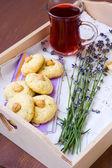 Lavender cookies — Stock Photo