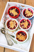 Berry crumbles — Stock Photo