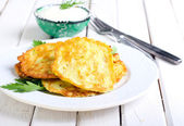 Courgette fritters  — Stock Photo