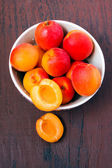 apricots in a bowl — Stock Photo