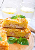 Ham and cheese pie — 图库照片