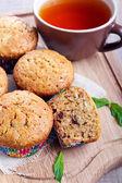 Multi grain muffins — 图库照片