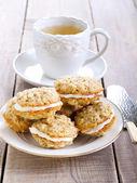 Oat sandwich cookies  — Stockfoto