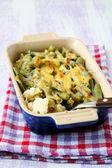 Cauliflower and green beans bake — Stockfoto