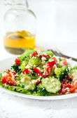 Salad with couscous — Stock Photo