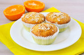 Orange and oat muffins  — Stockfoto