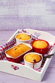 Berry and almond pudding  — Stock Photo