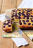Cherry cornmeal cake — Stockfoto