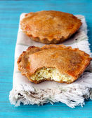 Wholemeal savory mini pies  — Stock Photo