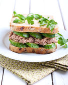 Tuna and cucumber sandwich  — Foto de Stock