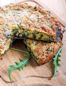 Green quiche — Foto de Stock