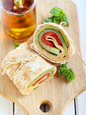 Tortilla wrap  — Stock Photo
