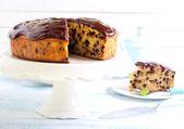 Banana chocolate cake — Stock Photo