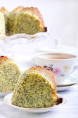 Poppy seed orange ring cake — Stock Photo