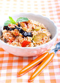 Rice with sauteed vegetables  — Stock Photo