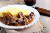 Beef stew with gravy — ストック写真