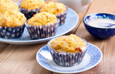 Carrot and orange cupcakes — Stock Photo