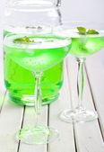 Mint spritzer in glasses — Stock Photo