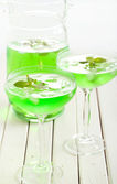 Mint spritzer in glasses — Stock Photo