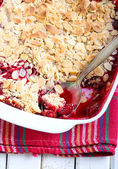 Fruit and almond crumble  — Stock Photo